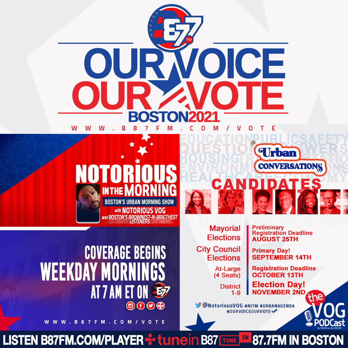 OUR VOICE! OUR VOTE!